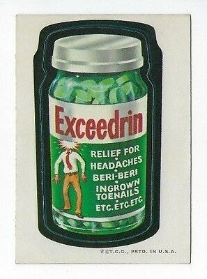 1973 Topps Wacky Packages 2nd Series 2 EXCEEDRIN wb ex+/nm-