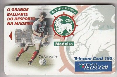 Europe  Telecarte / Phonecard .. Portugal 150U Football Soccer Madere Chip/puce