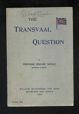 BOER WAR : THE TRANSVAAL QUESTION published 1900
