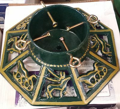 "Christmas Tree Stand - CAST IRON - Octagonal 14"" - For trees up to 7 feet."