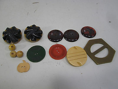 Vintage Lot of Bakelite Buttons- Tortoise & Other