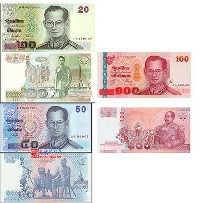 Thailand 2003-2005 year 20,50,100 Baht brand new BankNotes