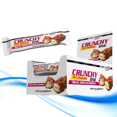 (EUR 24,70/kg) Best Body Nutrition Crunchy One 20 x 60g Protein Eiweiß Riegel