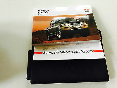 Mitsubishi L200 Double Cab Pick Up Service Book Wallet & Handbook Pack 2001 On