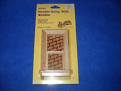 Double hung attic window, Houseworks, NIB, 1:12 scale, #5046