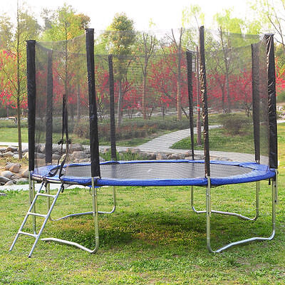 TRAMPOLINE   8ft  Safety Net Spring Pad Cover + Ladder