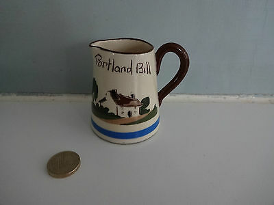 "Vintage Motto Ware Torquay/Devon Pottery- Small jug ""Portland Bill"" Take a littl"