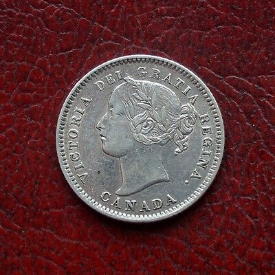 Canada 1880H silver 10 cents