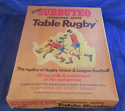 Vintage Subbuteo Table Rugby International Edition