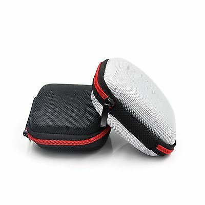 Storage Bag Carrying Rect. Hard Hold Case For Earphone Headphone Earbuds SD Card