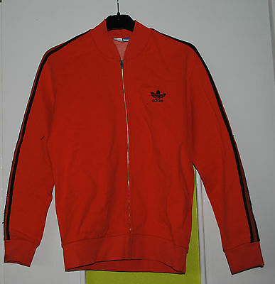 Veste Orange Taille 168 Vintage Adidas Ventex Made In France 70's Haut Tres Rare