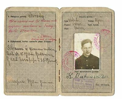 Lithuania Document RARE old