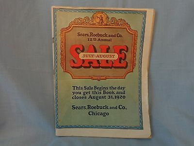 Vintage 1920 July- August Edition of The Sears Roebuck Catalog