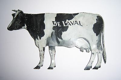 Vintage DE LAVAL Cream Seperator Advertising metal tin litho cow sign