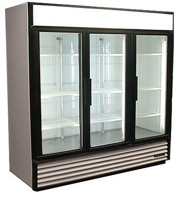 Used True Three Glass Door Freezer Merchandiser