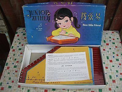 Vintage Junior Zither ~ Musical Instrument ~ Boxed With Instructions
