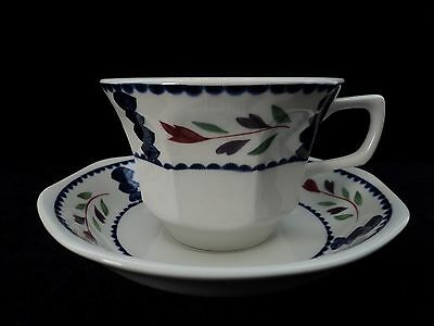 "Adams ""lancaster"" Real English Ironstone Set Of 4 Cups And 4 Saucers Mint!!"