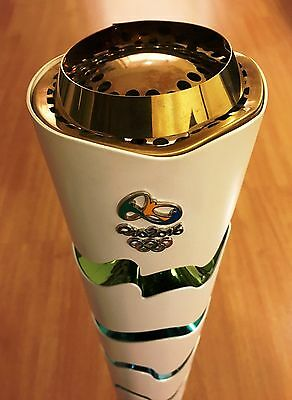 Rio 2016 Authentic Olympic Torch Used In Relay - Really Used Proof - Collectible