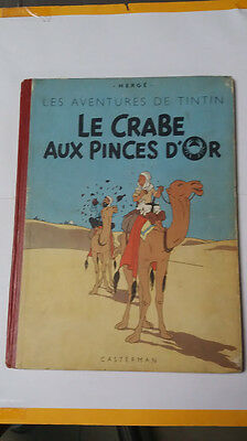 tintin je crabe aux pince d'or b3 1949 herge