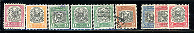 Dom. Rep. Scott # 120, 121, 122, 123, 128, 125, 128 MH/Used - 9 stamps