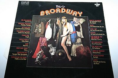 Sexy Nude Cheesecake Cover: This Is Broadway - 2 LP RCA