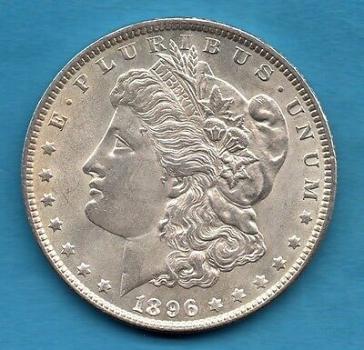 1896 Usa Silver Morgan Dollar Coin. Philadelphia Mint. United States America $1