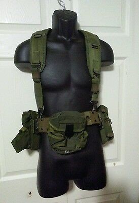Military, Army Tactical Utility Belt With Suspender Harness
