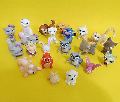 BARBIE size pets- mixed lot of 22 dogs cats raccoon squirrel bunny