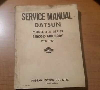 Datsun Model 510 Series Chassis and Body Service Manual 1968-1971
