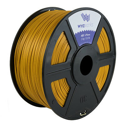WYZwork 3D Printer Premium ABS Filament 1.75mm 1kg/2.2lb - Gold