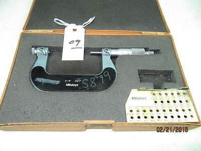 """Mitutoyo Thread Micrometer 2""""-3"""" With Anvils"""