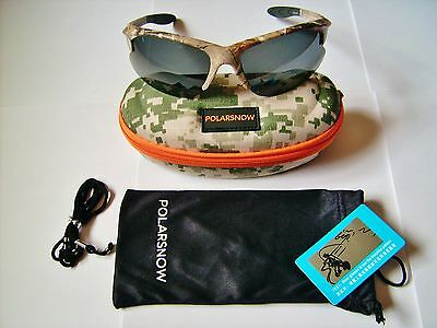 New Camouflage Pattern Polarized Fishing/hunting Glasses With Case, Cloth Etc