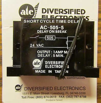 ATC DIVERSIFIED ELECTRONICS AC 505 5 Short Cycle Time Delay 24 VAC Relay