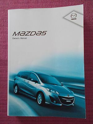 Mazda 5 Owners Manual - Owners Guide - Owners Handbook. (Ma 104)