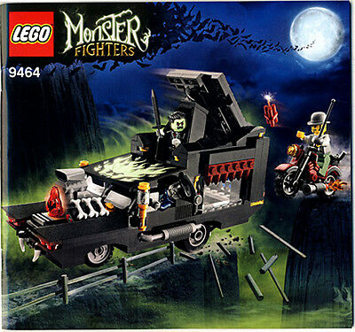 (Instructions) for LEGO 9464 Monster Fighters - The Vampyre Hearse - MANUAL ONLY
