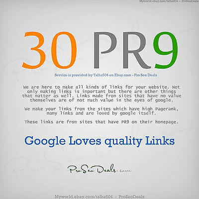 30 x PR9 Extreme Authority Dofollow Backlinks from PR 9 sites ♕ Pro SEO Deals ♕