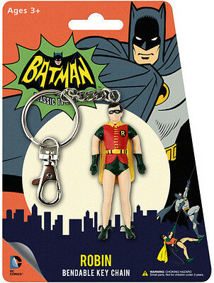 Robin 1966 Bendable Keychain (Toy Used Very Good)