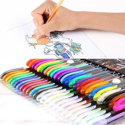 Rollerball Craft Coloring Art Markers Drawing Painting Neon Gel Ink Pens Set