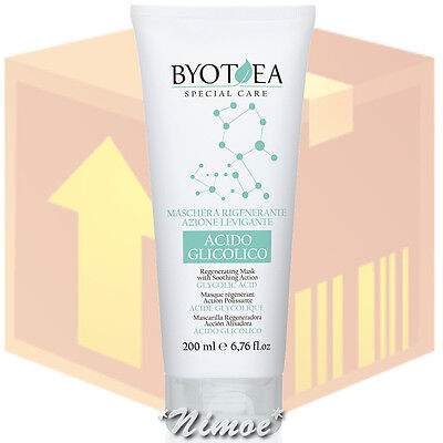 Regenerating Mask Smoothing Action box 6 pcs 200ml Special Care Byotea ®Glycolic
