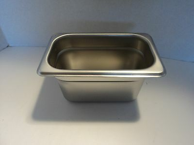 "Thunder Group STPA8194 Steam Table Pan, 1/9 Size, 4"" Deep, Anti-Jam, 24 Ga. S.S."