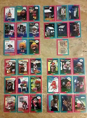 Norfin Trolls Vintage 1991 Series 1 Trading Cards - 33 Cards