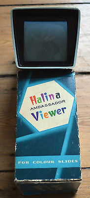 Boxed Halina Ambassador Projector Colored Slide Viewer Works Perfectly