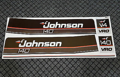 JOHNSON 1989-1990 140 HP Vinyl Decals Stickers HorsePower V4 VRO Motor Set 5pcs