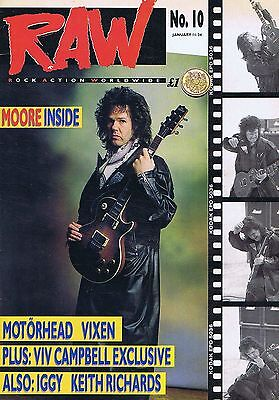 GARY MOORE / MOTORHEASD/ VIXEN / KEITH RICHARDS Raw no. 10
