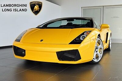 2008 Lamborghini Gallardo Spyder Convertible 2-Door Offered by Long Island's Only Factory Authorized Lamborghini Dealer