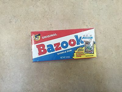 Vintage 1991 Bazooka bubble gum in sealed box