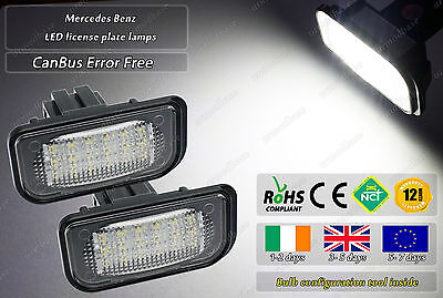 2x Canbus LED No Error Free Mercedes Benz C- Class W203 License Plate Bulbs Lamp