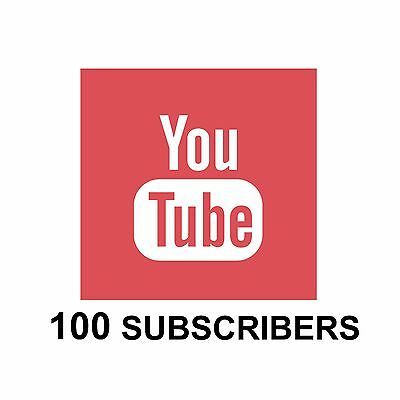 YouTube 100 Subscribe ! Professional service ! 24H ! PROMOTION !