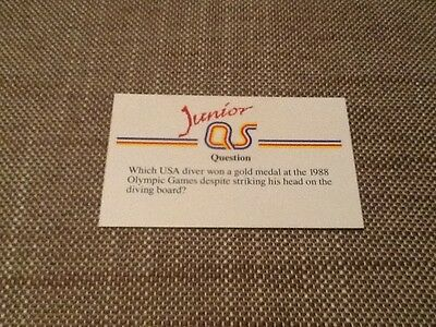 Greg Louganis diving USA / Junior A Question of Sport game card 1990 #102