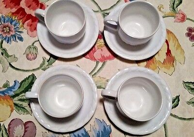 Christian Dior French Country Rose Oyster White Set of 4 Saucers and Cups & Porcelain Dinnerware China u0026 Dinnerware Pottery u0026 China Pottery ...
